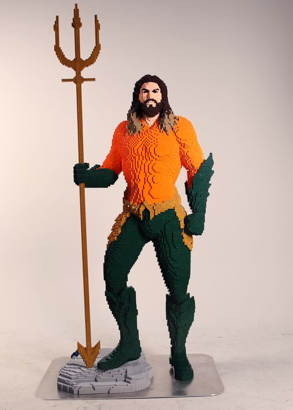 Nothing sea-weathered about this Aquaman.