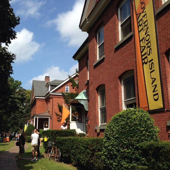 Colonels Row. Image courtesy Governors Island Art Fair.
