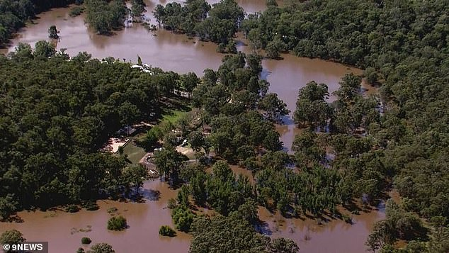 The car with the student's body inside was found in Cattai Creek (pictured) at about 1pm following a NSW Police and SES Flood Rescue search
