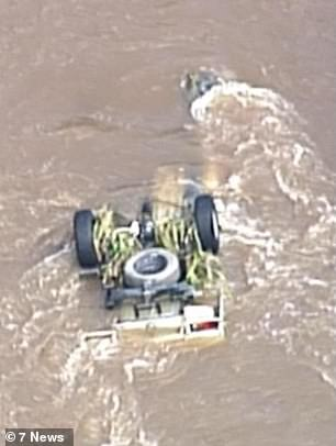 Mr Hornman's white 2013 Isuzu D-Max ute was then discovered floating in the flooded Canungra Creek on Wednesday morning