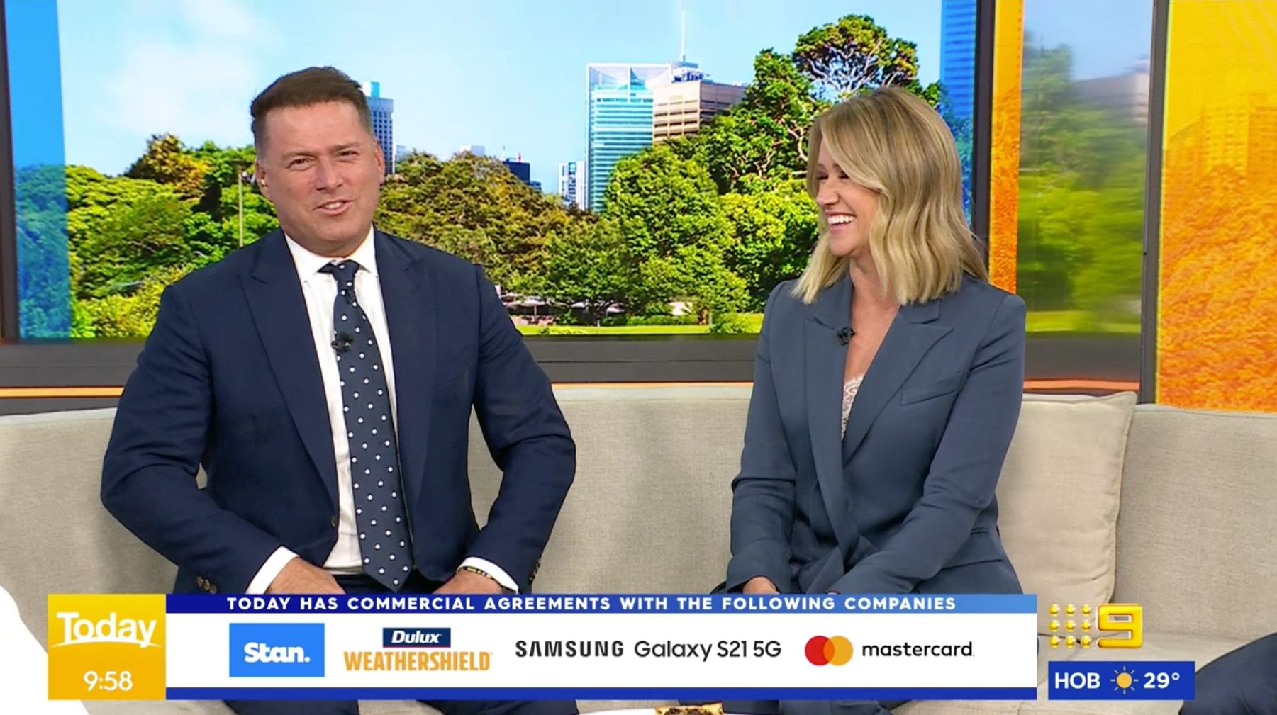 Karl Stefanovic and Leila McKinnon on the'Today' show Thursday