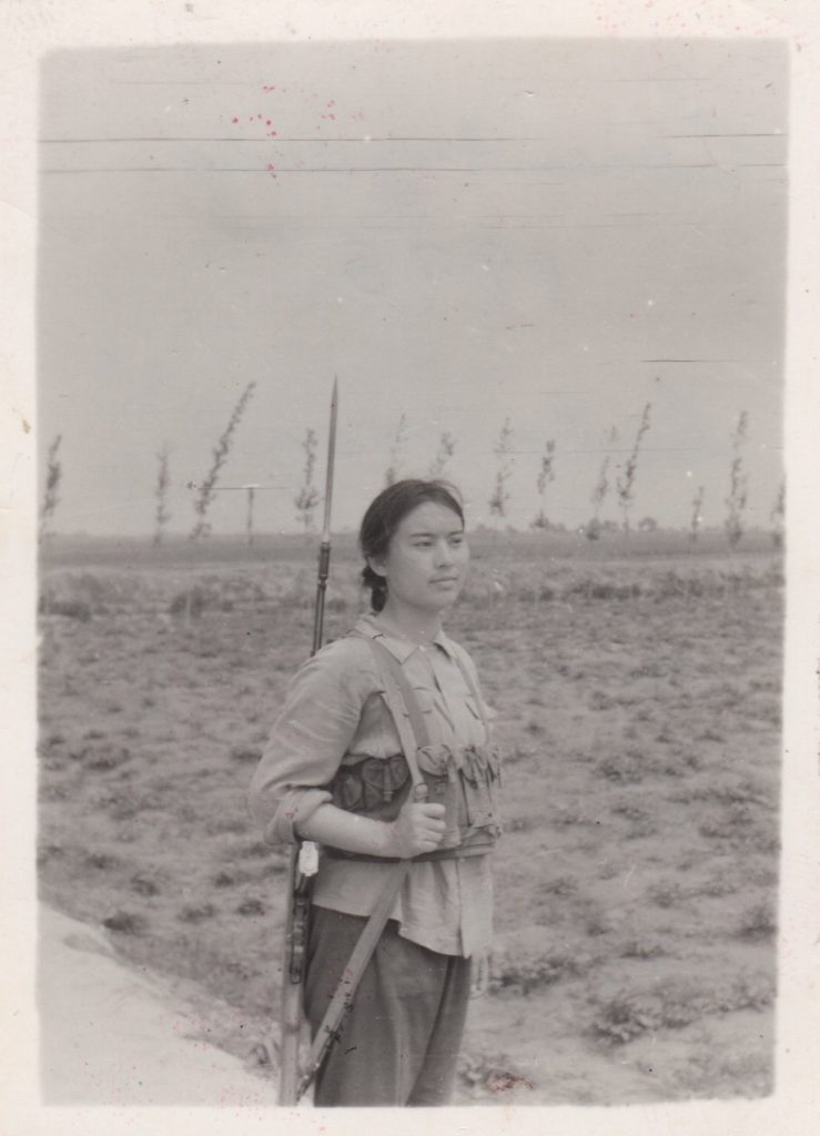 Hung Liu in 1972. The art spent four years doing manual labor during China's Cultural Revolution. Photo courtesy of Hung Liu.