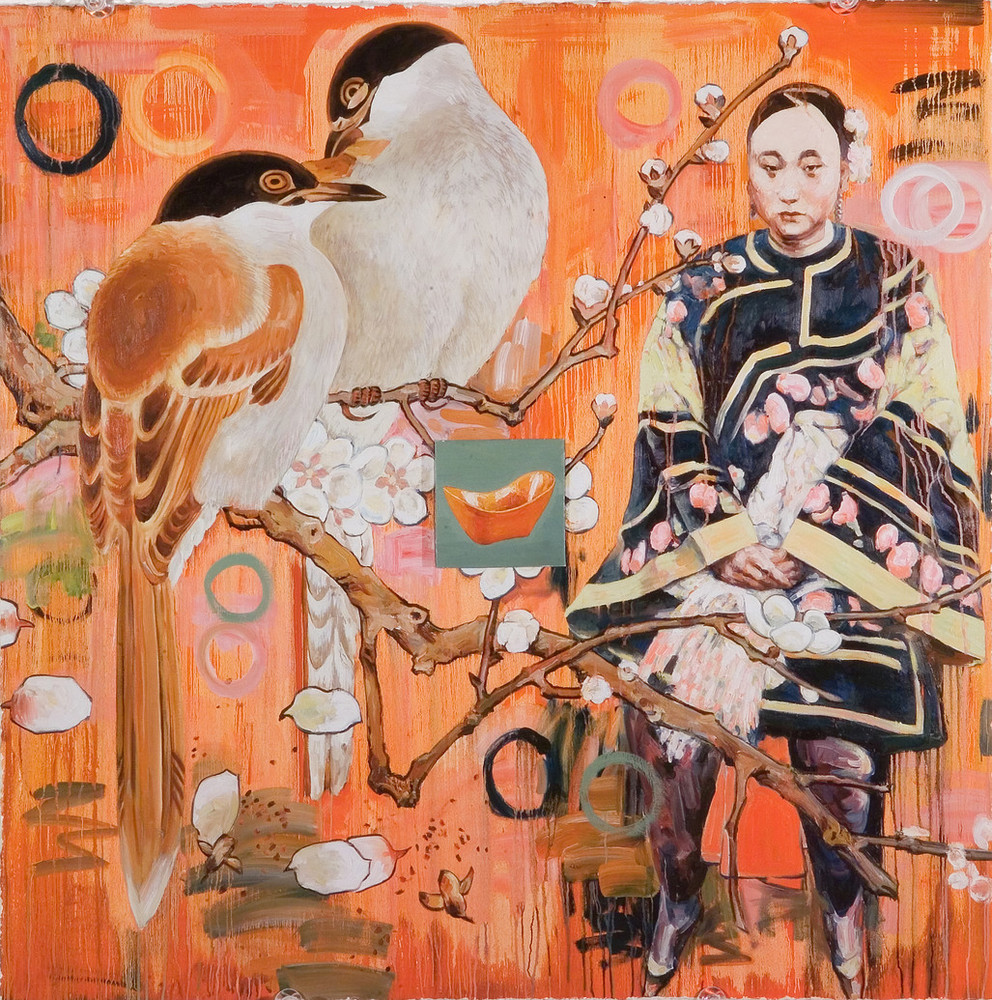 """Hung Liu, Untitled (2005, from """"Seven Poses"""" series. Collection of the National Museum of Women in the Arts, gift of the Greater Kansas City Area Committee of the National Museum of Women in the Arts. ©Hung Liu."""