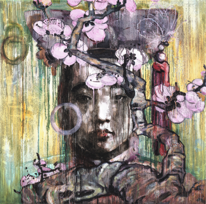 Hung Liu, Winter Blossom (2011). Collection of the National Museum of Women in the Arts, Gift of Steven Scott, Baltimore, in honor of the artist and the Twenty-fifth Anniversary of the National Museum of Women in the Arts; ©Hung Liu.
