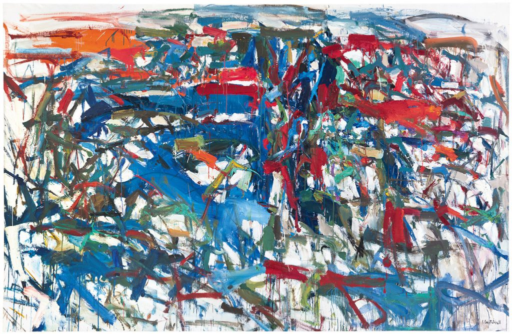 Joan Mitchell, To the Harbormaster (1957). Photo by Tony Prikryl; AKSArt LP; ©estate of Joan Mitchell.