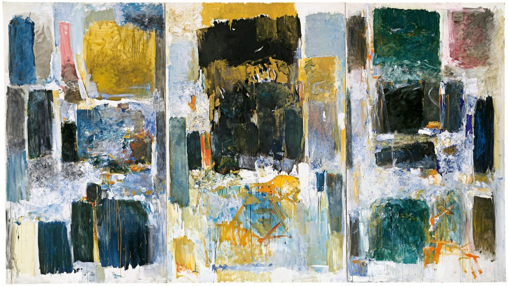 Joan Mitchell, Ode to Joy (A Poem by Frank O'Hara) 1970–71. Photo by Biff Henrich for ING_INK, Buffalo, New York; collection of University at Buffalo Art Galleries, gift of Rebecca Anderson; ©estate of Joan Mitchell.