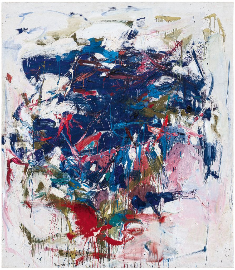 Joan Mitchell, Rock Bottom (1960). Collection of the Blanton Museum of Art, the University of Texas at Austin, gift of Mari and James A. Michener; ©estate of Joan Mitchell.
