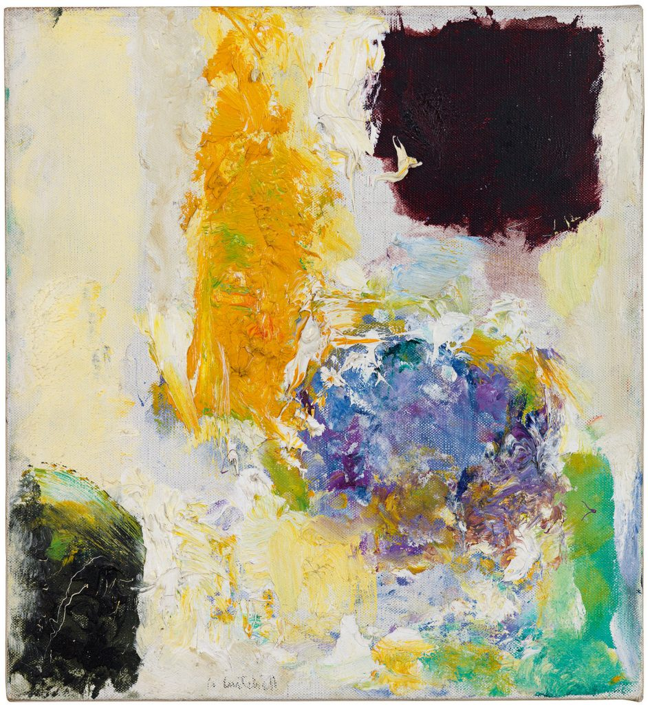 Joan Mitchell, Untitled (1973). Photo by Brian Buckley for Joan Mitchell Catalogue Raisonne; private collection; ©estate of Joan Mitchell.