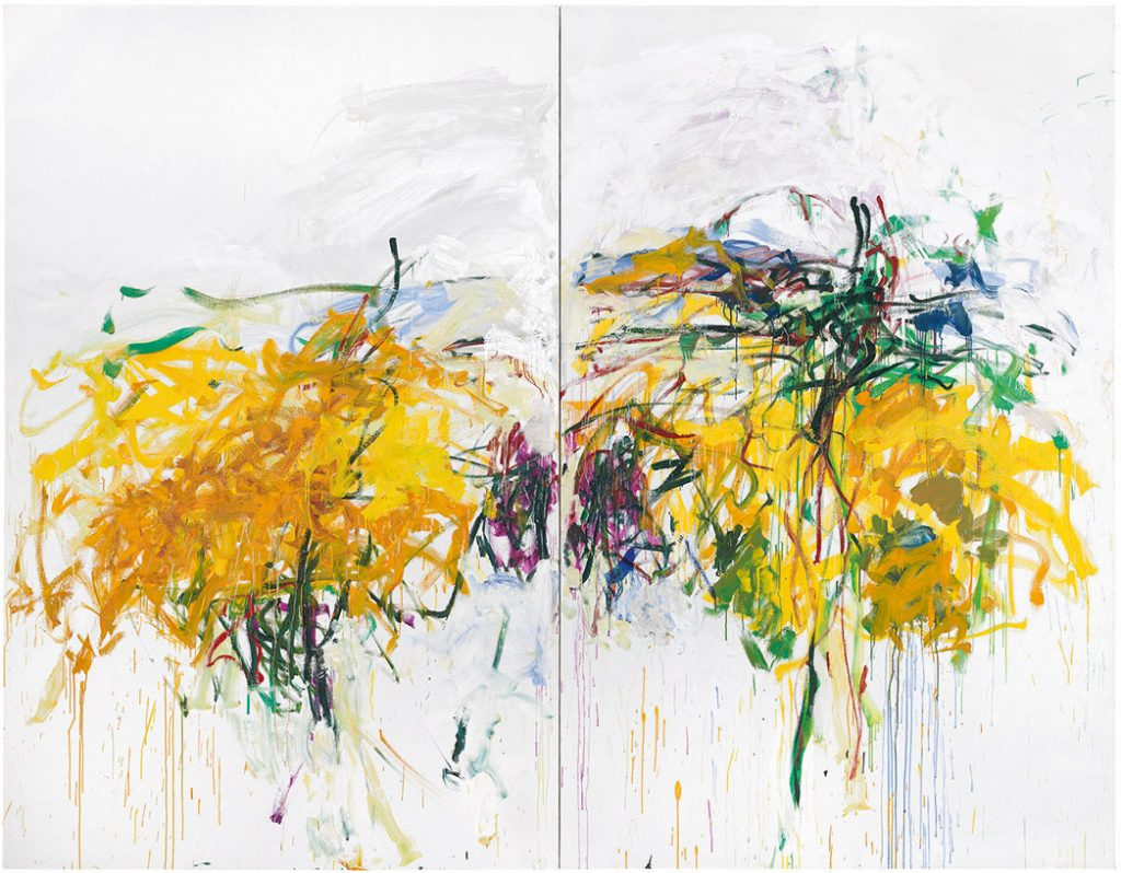 Joan Mitchell, Untitled (1992). Photo courtesy of Cheim and Read, New York, Komal Shah and Gaurav Garg Collection, ©estate of Joan Mitchell.