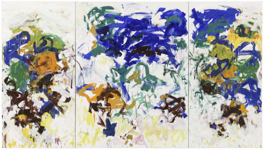 Joan Mitchell, Bracket (1989). Photo by Katherine Du Tiel, the Doris and Donald Fisher Collection at the San Francisco Museum of Modern Art; ©estate of Joan Mitchell.