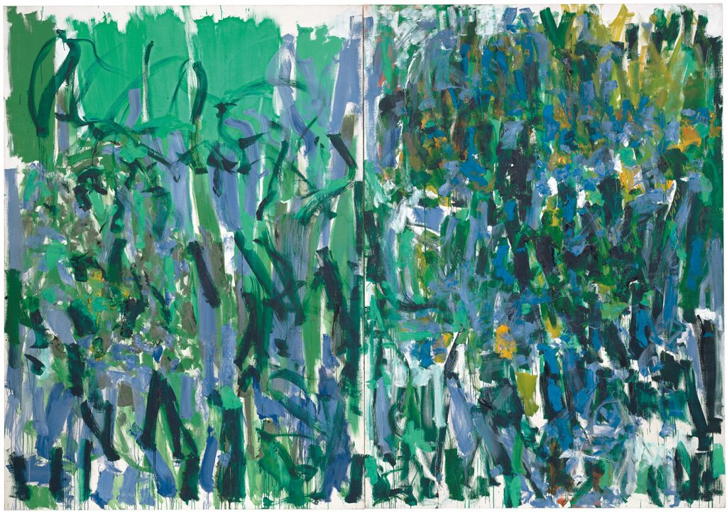 Joan Mitchell, No Rain (1976). Collection the Museum of Modern Art, New York, gift of the estate of Joan Mitchell; ©estate of Joan Mitchell.