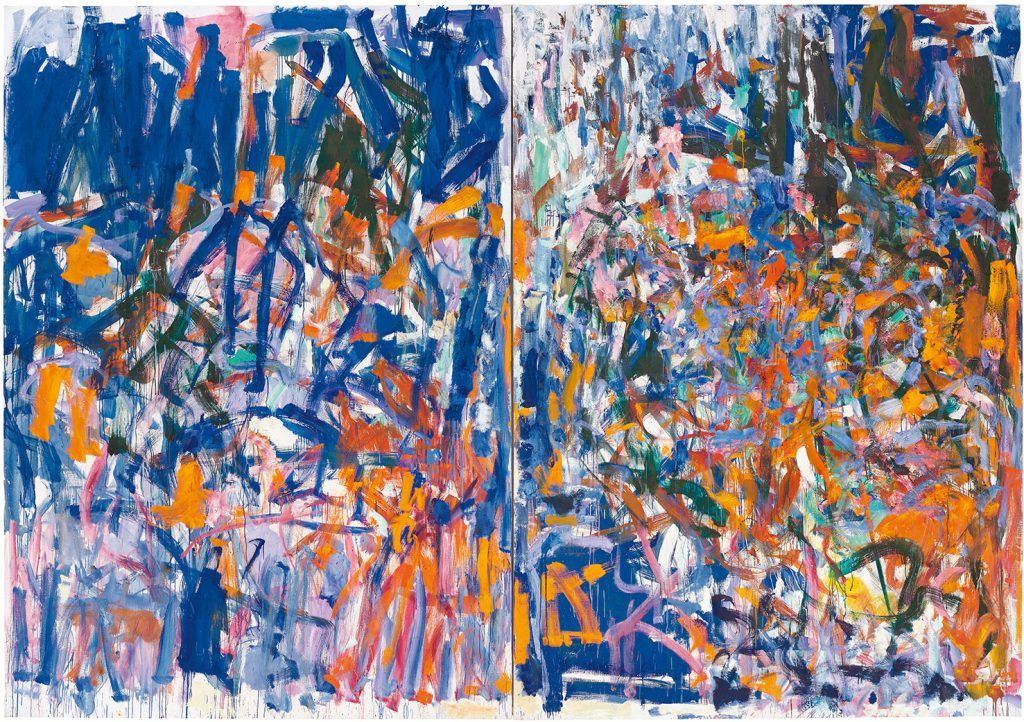 Joan Mitchell, Weeds (1976). Photo by Ian Lefebvre for the Art Gallery of Ontario; collection of irshhorn Museum and Sculpture Garden, Smithsonian Institution, Washington, D.C., gift of Joseph H. Hirshhorn; ©estate of Joan Mitchell.