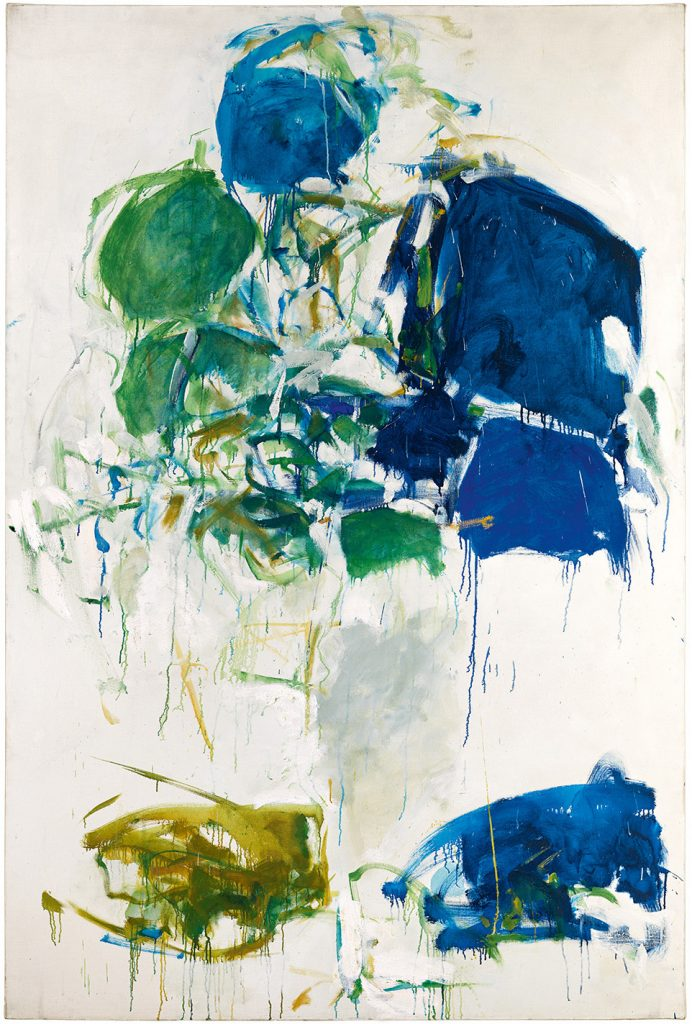 Joan Mitchell, Vétheuil (1967–68). Photo by Brian Buckley; courtesy of Joan Mitchell Catalogue Raisonne; private collection; ©estate of Joan Mitchell.